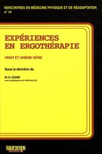 Marie-Hélène Izard - Expériences en ergothérapie - 21e série.