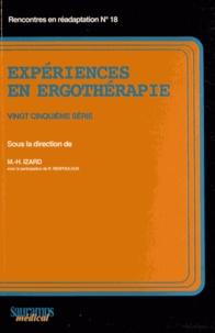 Marie-Hélène Izard - Expériences en ergothérapie - 25e série.