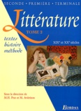 Marie-Hélène Prat et Maryse Aviérinos - Littérature Seconde, Première, Terminale - Tome 2, XIXème et XXème siècles.