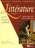 Marie-Hélène Prat et Maryse Aviérinos - Littérature - Tome 1, Moyen Age, XVIe, XVIIe, XVIIIe siècles.