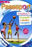 Marie-Hélène Robinot-Bichet et Gérard Caparros - Passeport 3 matières de la 5e à la 4e - Français, Maths, Anglais.