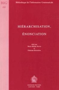 Marie-Hélène Servet et Fabienne Boissieras - Hiérarchisation, énonciation.