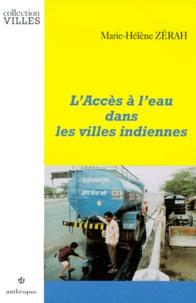 Marie-Hélène Zérah - L'accès à l'eau dans les villes indiennes.