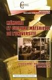 Marie-Jeanne Choffel-Mailfert et Laurent Rollet - Mémoire et culture matérielle de l'université - Sauvegarde, valorisation et recherche.