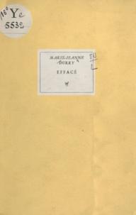 Marie-Jeanne Durry - Effacé.
