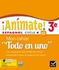"""Marie José Casas et Nadine Castéra - Espagnol 3e Animate! A2 - Mon cahier """"Todo en uno""""."""