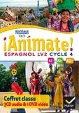 Marie José Casas - Espagnol LV2 Cycle 4 Animate! A1-A1+-A2. 1 DVD + 3 CD audio