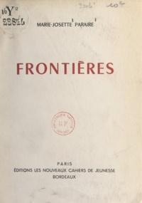 Marie-Josette Paraire - Frontières.