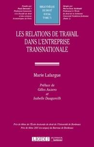 Marie Lafargue - Les relations de travail dans l'entreprise transnationale.