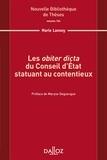 """Marie Lannoy - Les """"obiter dicta"""" du Conseil d'Etat statuant au contentieux."""