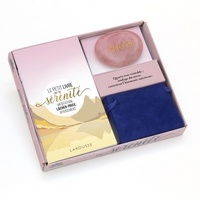 Coffret Ma petite pierre de sérénité- Le petit livre de la sérénité avec 1 véritable quartz rose avec sa pochette - Marie-Laure Bayle |