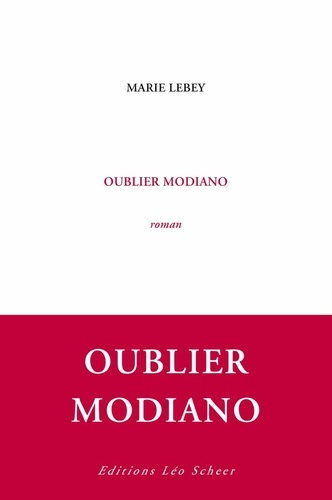 Oublier Modiano