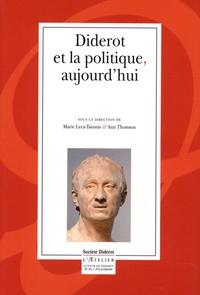 Marie Leca-Tsiomis et Ann THOMSON - Diderot et la politique, aujourd'hui.