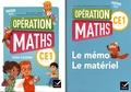 Marie-Lise Peltier et Joël Briand - Mathématiques CE1 Opération Maths - Pack en 2 volumes : Cahier d'activités ; Le mémo, le matériel.