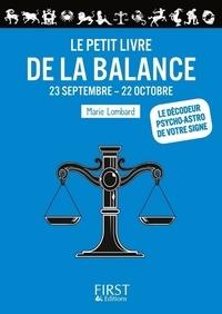 Marie Lombard - Le Petit Livre de la Balance.