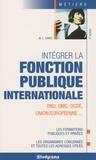 Marie-Lorène Giniès - Intégrer la fonction publique internationale.