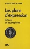 Marie-Louise Aucher - Les plans d'expression, schéma de psychophonie - Démarches selon les trois éléments : poésie-mélodie-rythme.