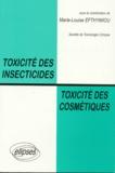 Marie-Louise Efthymiou - Toxicité des insecticides, toxicité des cosmétiques - [actes de la 32ème Réunion annuelle, Paris 1994.