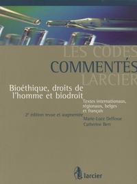 Marie-Luce Delfosse et Catherine Bert - Bioéthique, droits de l'homme et biodroit.