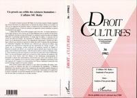 Marie-Madeleine Fernagut-Sanson et Serge-G Raymond - Droit et cultures N° 36 : L'AFFAIRE MCRUBY.