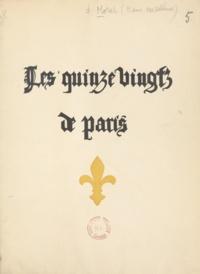 Marie-Madeleine Morat et Gilbert Poilliot - Les Quinze-vingts de Paris.