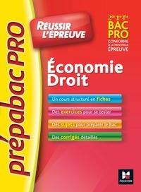 Marie-Madeleine Piroche et Emmanuelle Bujoc - Economie-droit bac 2e, 1ere, Tle bac pro.