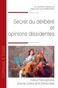 Marie Nicolas-Gréciano - Secret du délibéré et opinions dissidentes.