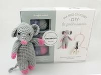 Deedr.fr Ma box crochet DIY la petite souris - Avec 3 pelotes de fil polyester, 1 aiguillée de fil polyester noir, 1 crochet, 1 paquet de rembourrage Image