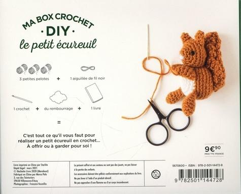 Ma box crochet DIY le petit écureuil. Avec 3 petites pelotes, 1 crochet, 1 paquet de rembourrage