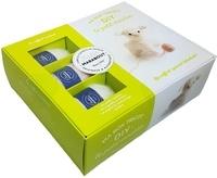 Marie-Noëlle Bayard - Ma box tricot DIY le petit mouton - Avec 3 petites pelotes, 1 aiguillée de fil noir, 1 paire d'aiguilles à tricoter, du rembourrage.