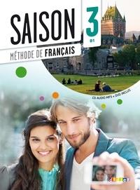 Saison 3 : méthode de français- Contient : 1 CD audio et 1 DVD - Marie-Noëlle Cocton | Showmesound.org