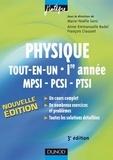 Marie-Nöelle Sanz et Anne-Emmanuelle Badel - Physique tout-en-un 1re année MPSI-PCSI-PTSI - 3e éd. - Cours, avec exercices corrigés.