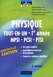 Marie-Nöelle Sanz et Anne-Emmanuelle Badel - Physique tout-en-un MPSI-PCSI-PTSI 1e année - Cours et exercices corrigés.