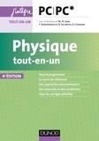 Marie-Nöelle Sanz et Bernard Salamito - Physique tout-en-un PC-PC* - 4e éd..