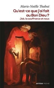 Marie-Noëlle Thabut - Qu'est-ce que j'ai fait au Bon Dieu ? - Job, la souffrance et nous.