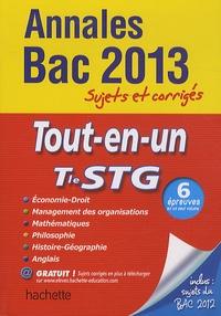 Marie-Odile Boulard-Lemoine et Corinne Denis - Tle STG Tout-en-un Annales Bac 2013 - Sujets et corrigés.