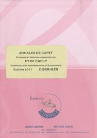Marie-Odile Breluzeau et André Joncour - Annales de CAPET et de CAPLP - Corrigés.