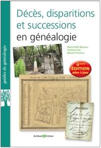 Marie-Odile Mergnac et Christian Duic - Décès, disparitions et successions en généalogie - Les basiques de la généalogie.