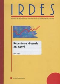 Marie-Odile Safon - Répertoire d'usuels en santé.