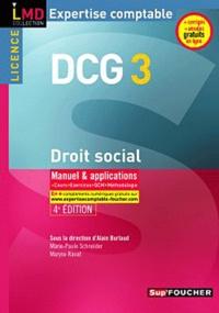Marie-Paule Schneider - DCG 3 droit social - Manuel & applications.