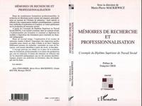 Marie-Pierre Mackiewicz et Aline Fino-Dhers - Mémoires de recherche et professionalisation - L'exemple du Diplôme Supérieur de Travail Social.