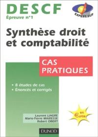 DESCF N°1 Synthèse droit et comptabilité- Cas pratique - Marie-Pierre Mairesse | Showmesound.org