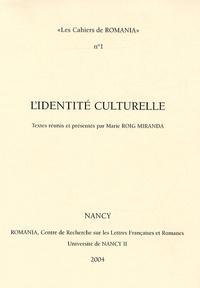 Marie Roig Miranda - L'identité culturelle.