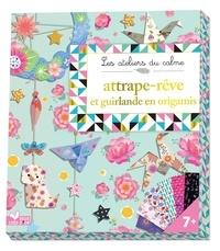 Marie-Rose Boisson - Attrape-rêve et guirlande en origamis.