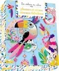 Marie-Rose Boisson - Plumes et strass Oiseaux fabuleux - Avec 30 plumes, 1 fil de couture, 1 feuille de strass, 2 tableaux, 1 attrape-rêve.