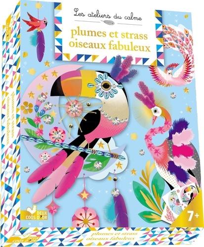 Plumes et strass Oiseaux fabuleux. Avec 30 plumes, 1 fil de couture, 1 feuille de strass, 2 tableaux, 1 attrape-rêve