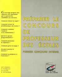 Marie-Thérèse Chaduc et Daniel Guérault - Préparer le concours de professeur des écoles - Premier concours interne.