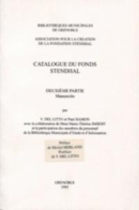 Marie-Thérèse Imbert - Catalogue du fond Stendhal - Tome 2, manuscrits.