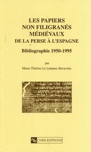Marie-Thérèse Le Léannec-Bavavéas - Les papiers non filigranés médiévaux de la Perse à l'Espagne - Bibliographie 1950-1995.