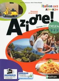 Marie-Thérèse Medjadji et Jean-Luc Bouko - Italien 5e-4e-3e Cycle 4 A1-A2+ Azione ! - Livre de l'élève.